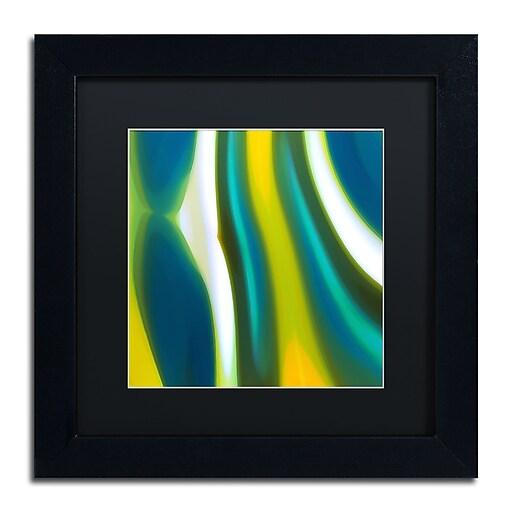 """Trademark Fine Art ''Fury Stream 9'' by Amy Vangsgard  11"""" x 11"""" Black Matted Black Frame (AV0144-B1111BMF)"""