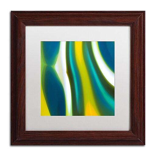 """Trademark Fine Art ''Fury Stream 9'' by Amy Vangsgard  11"""" x 11"""" White Matted Wood Frame (AV0144-W1111MF)"""