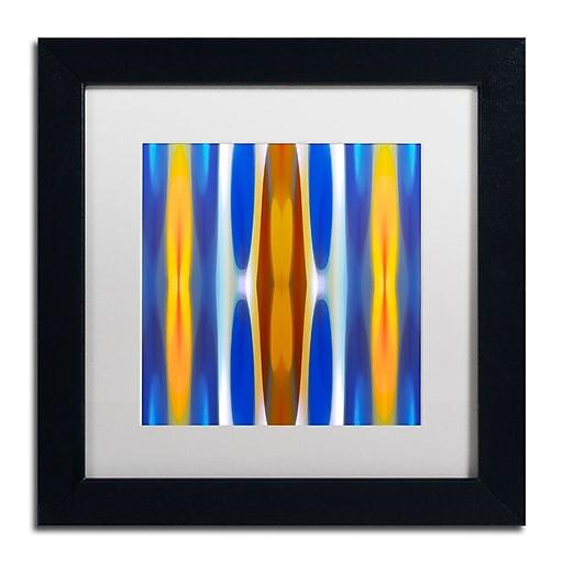"""Trademark Fine Art ''Winter Forest Square 1'' by Amy Vangsgard  11"""" x 11"""" White Matted Black Frame (AV0145-B1111MF)"""