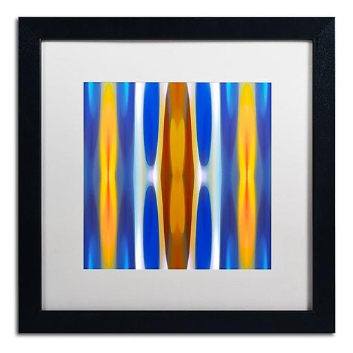 """Trademark Fine Art ''Winter Forest Square 1'' by Amy Vangsgard  16"""" x 16"""" White Matted Black Frame (AV0145-B1616MF)"""