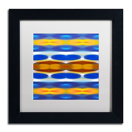 """Trademark Fine Art ''Winter Forest Square 2'' by Amy Vangsgard  11"""" x 11"""" White Matted Black Frame (AV0146-B1111MF)"""