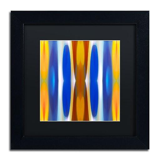 """Trademark Fine Art ''Winter Forest Square 7'' by Amy Vangsgard  11"""" x 11"""" Black Matted Black Frame (AV0147-B1111BMF)"""