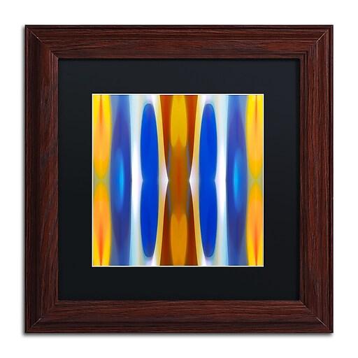 """Trademark Fine Art ''Winter Forest Square 7'' by Amy Vangsgard  11"""" x 11"""" Black Matted Wood Frame (AV0147-W1111BMF)"""