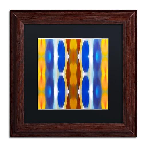 """Trademark Fine Art ''Winter Forest Square 8'' by Amy Vangsgard  11"""" x 11"""" Black Matted Wood Frame (AV0148-W1111BMF)"""
