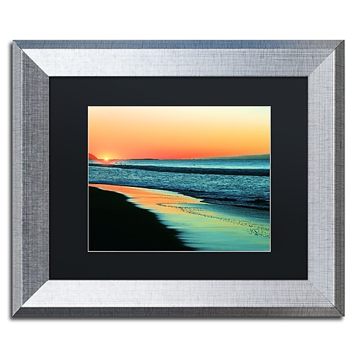 "Trademark Fine Art ''Good Morning'' by Beata Czyzowska Young 11"" x 14"" Black Matted Silver Frame (BC0087-S1114BMF)"