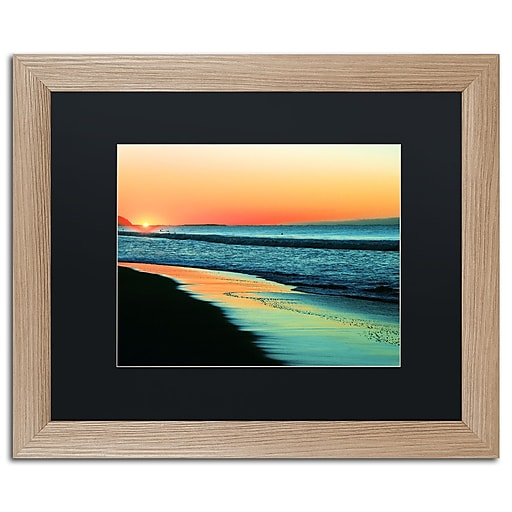 "Trademark Fine Art ''Good Morning'' by Beata Czyzowska Young 16"" x 20"" Black Matted Wood Frame (BC0087-T1620BMF)"
