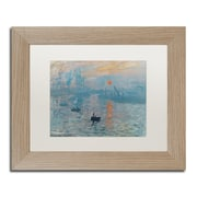 "Trademark Fine Art ''Impression Sunrise'' by Claude Monet 11"" x 14"" White Matted Wood Frame (BL0001-T1114MF)"