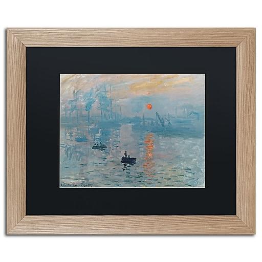 "Trademark Fine Art ''Impression Sunrise'' by Claude Monet 16"" x 20"" Black Matted Wood Frame (BL0001-T1620BMF)"
