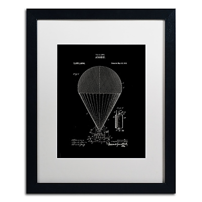 Trademark Fine Art ''Airship Patent 1913 Black'' by Claire Doherty 16