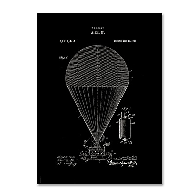 Trademark Fine Art ''Airship Patent 1913 Black'' by Claire Doherty 14