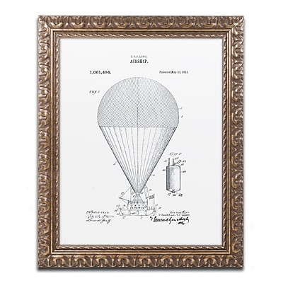 Trademark Fine Art ''Airship Patent 1913 White'' by Claire Doherty 16