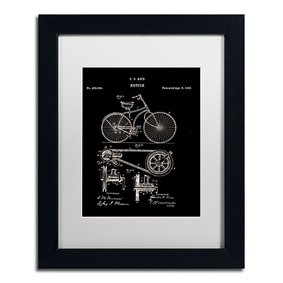 Trademark Fine Art ''Bicycle Patent 1890 Black'' by Claire Doherty 11