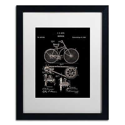Trademark Fine Art ''Bicycle Patent 1890 Black'' by Claire Doherty 16