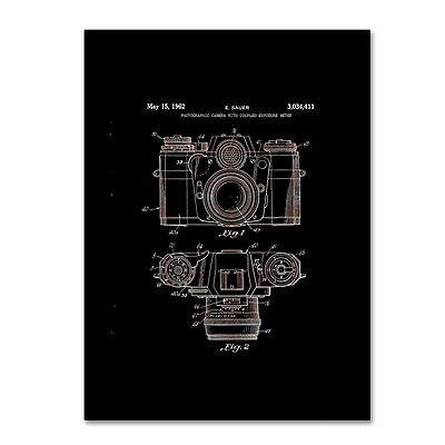 Trademark Fine Art ''Photographic Camera Patent 1962 Black'' by Claire Doherty 14