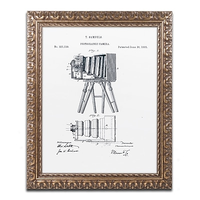 Trademark Fine Art ''Photographic Camera 1885 White'' by Claire Doherty 16