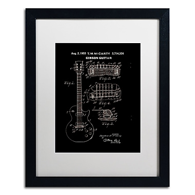 Trademark Fine Art ''1955 Mccarty Gibson Guitar Black'' by Claire Doherty 16
