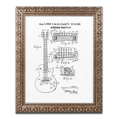 Trademark Fine Art ''1955 Mccarty Gibson Guitar White'' by Claire Doherty 16