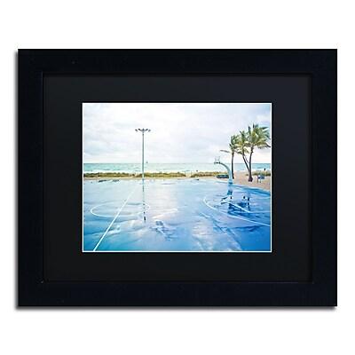 Trademark Fine Art ''Basketball by the Beach'' by Preston 11
