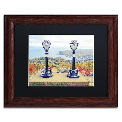 "Trademark Fine Art ''Tower Viewers'' by Preston 11"" x 14"" Black Matted Wood Frame (EM0509-W1114BMF)"