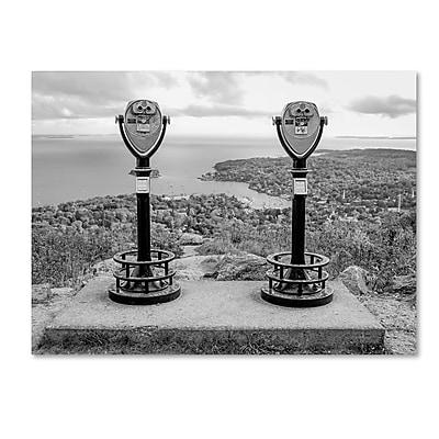 Trademark Fine Art ''Tower Viewers BW'' by Preston 35