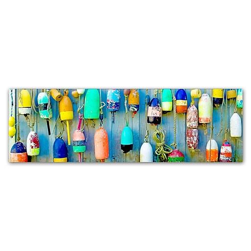 "Trademark Fine Art ''Floaters'' by Preston 8"" x 24"" Canvas Art (EM0512-C824GG)"