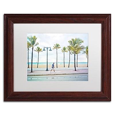 Trademark Fine Art ''Florida Beach Walk'' by Preston 11