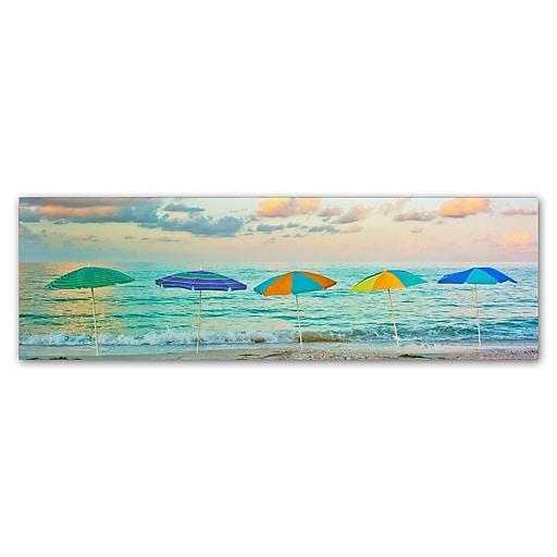 "Trademark Fine Art ''Florida Party of Five'' by Preston 10"" x 32"" Canvas Art (EM0526-C1032GG)"
