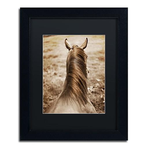 "Trademark Fine Art ''Kentucky Horsemane'' by Preston 11"" x 14"" Black Matted Black Frame (EM0538-B1114BMF)"