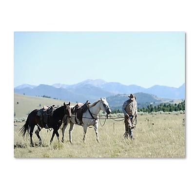 Trademark Fine Art ''Montana Horse Rancher'' by Preston 24