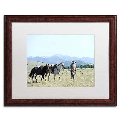 Trademark Fine Art ''Montana Horse Rancher'' by Preston 16
