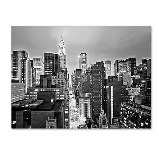 "Trademark Fine Art ''New York Skyline 2'' by Preston 35"" x 47"" Canvas Art (EM0547-C3547GG)"