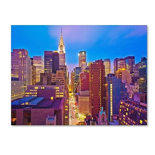 "Trademark Fine Art ''New York'' by Preston 24"" x 32"" Canvas Art (EM0548-C2432GG)"