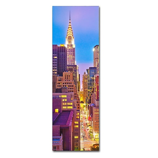 "Trademark Fine Art ''NY Vertical Panoramic'' by Preston 16"" x 47"" Canvas Art (EM0549-C1647GG)"