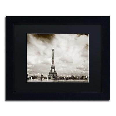 Trademark Fine Art ''Paris Eiffel Tower and Man'' by Preston 11
