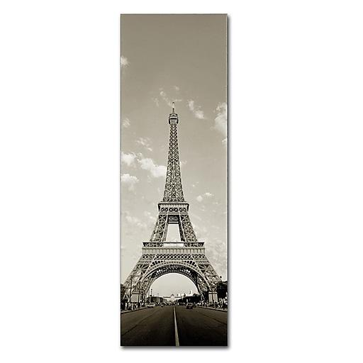 "Trademark Fine Art ''Paris Eiffel Tower Vertical'' by Preston 6"" x 19"" Canvas Art (EM0552-C619GG)"