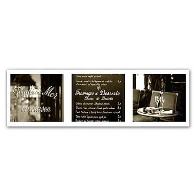 Trademark Fine Art ''Paris Triptych Restaurant'' by Preston 16