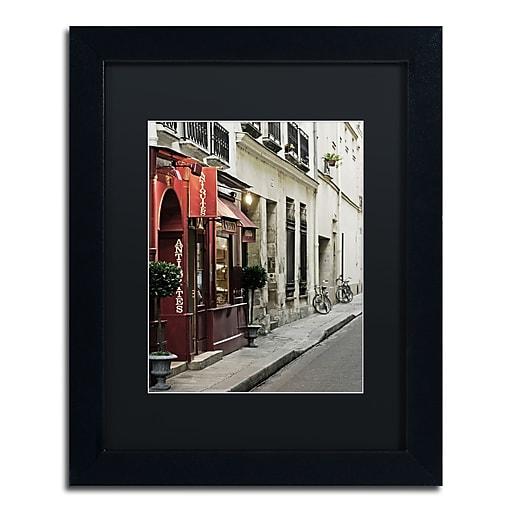 "Trademark Fine Art ''Parisian Antiques'' by Preston 11"" x 14"" Black Matted Black Frame (EM0554-B1114BMF)"