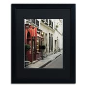 "Trademark Fine Art ''Parisian Antiques'' by Preston 16"" x 20"" Black Matted Black Frame (EM0554-B1620BMF)"