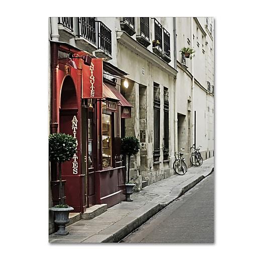 "Trademark Fine Art ''Parisian Antiques'' by Preston 14"" x 19"" Canvas Art (EM0554-C1419GG)"