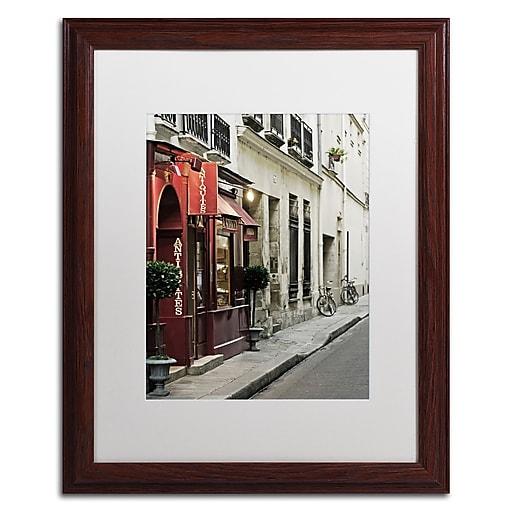 "Trademark Fine Art ''Parisian Antiques'' by Preston 16"" x 20"" White Matted Wood Frame (EM0554-W1620MF)"