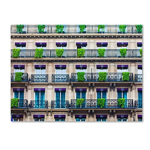 "Trademark Fine Art ''Parisian Apartments'' by Preston 35"" x 47"" Canvas Art (EM0555-C3547GG)"