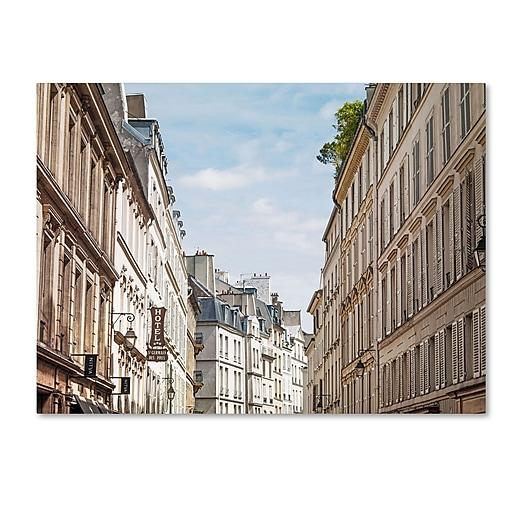 "Trademark Fine Art ''Parisian Buildings'' by Preston 24"" x 32"" Canvas Art (EM0557-C2432GG)"