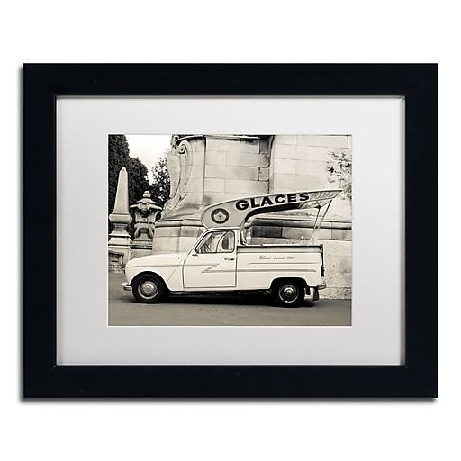 "Trademark Fine Art ''Parisian Glace'' by Preston 11"" x 14"" White Matted Black Frame (EM0559-B1114MF)"