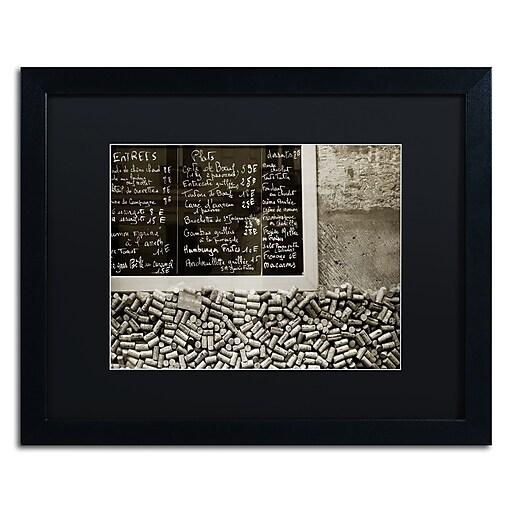 "Trademark Fine Art ''Parisian le Sac a Dos'' by Preston 16"" x 20"" Black Matted Black Frame (EM0560-B1620BMF)"