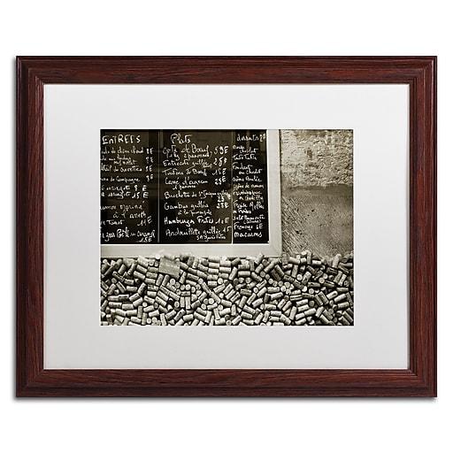 "Trademark Fine Art ''Parisian le Sac a Dos'' by Preston 16"" x 20"" White Matted Wood Frame (EM0560-W1620MF)"