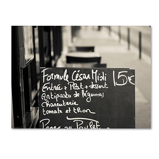 "Trademark Fine Art ''Parisian Menu'' by Preston 35"" x 47"" Canvas Art (EM0561-C3547GG)"