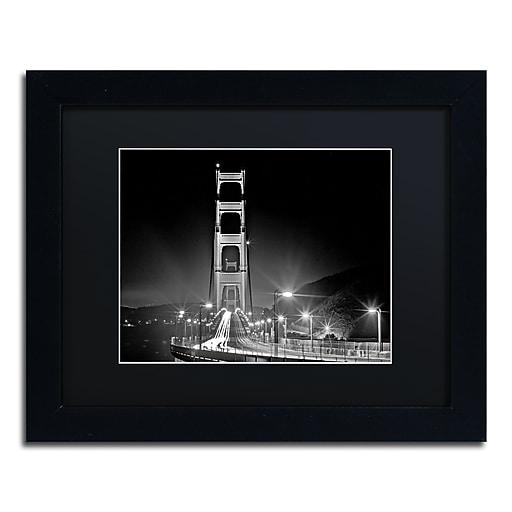 "Trademark Fine Art ''San Francisco'' by Preston 11"" x 14"" Black Matted Black Frame (EM0565-B1114BMF)"