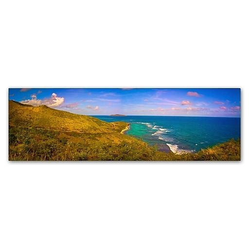 "Trademark Fine Art ''St. Croix Panoramic'' by Preston 6"" x 19"" Canvas Art (EM0566-C619GG)"