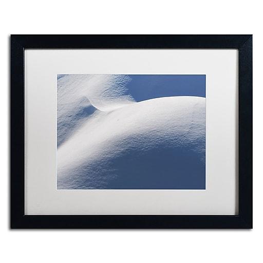 "Trademark Fine Art ''Abstract Snow Mound 3'' by Kurt Shaffer 16"" x 20"" White Matted Black Frame (KS01082-B1620MF)"