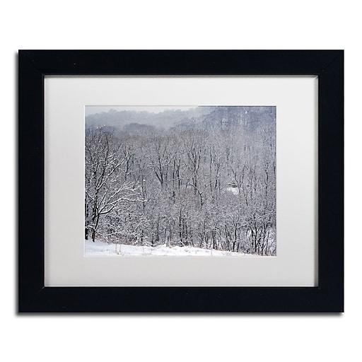 "Trademark Fine Art ''Quiet Heavy Snowfall'' by Kurt Shaffer 11"" x 14"" White Matted Black Frame (KS01086-B1114MF)"